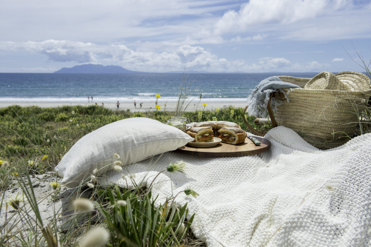 Enjoy a picnic at Omaha Beach Photo Credit Lola Media / Lori Satterthwaite _ Styling Kate Arbuthnot